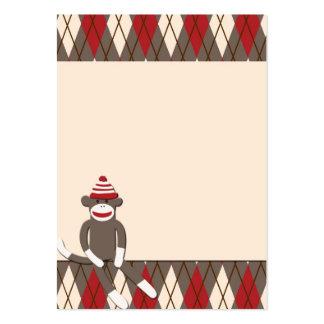 Argyle Sock Monkey Business Card