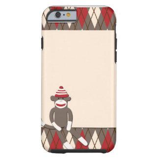 Argyle Sock Monkey iPhone 6 case