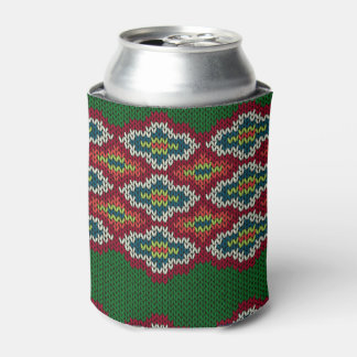 Argyle Sweater Texture Can Cooler