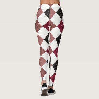 Argyle Textile Pattern Leggings 02 Small