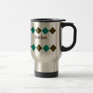 Argyle Travel Mug - Personalized