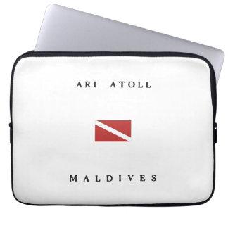 Ari Atoll Maldives Scuba Dive Flag Laptop Sleeve