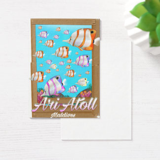 Ari Atoll Maldives travel poster Business Card
