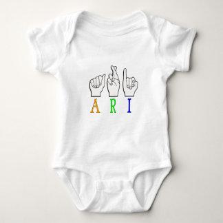 ARI FINGERSPELLED ASL NAME SIGN DEAF BABY BODYSUIT