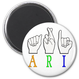 ARI FINGERSPELLED ASL NAME SIGN DEAF MAGNET