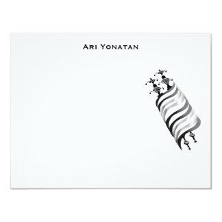 Ari Yonatan Torah Bar Mitzvah Invitation Thank You