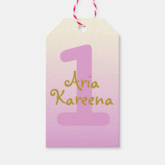 Aria Kareena Birthday Favor Tags Ombre Beige Pink Pack Of Gift Tags