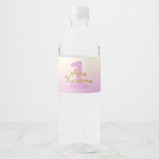 Aria Kareena Water Bottle Label Ombre Beige Pink