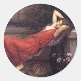 Ariadne [John William Waterhouse] Round Sticker