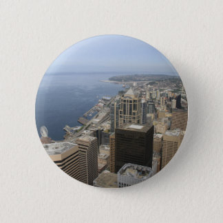Arial View of Seattle 2 Inch Round Button
