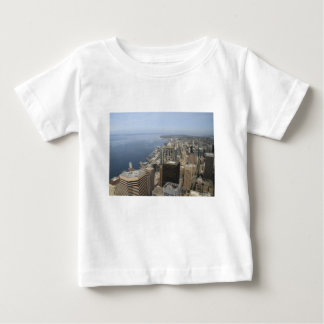 Arial View of Seattle Baby T-Shirt