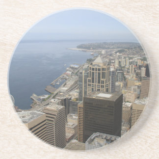 Arial View of Seattle Drink Coasters