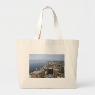 Arial View of Seattle Large Tote Bag