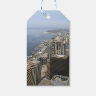 Arial View of Seattle Pack Of Gift Tags