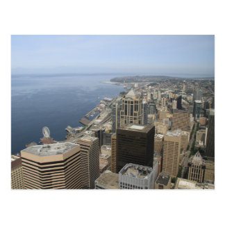 Arial View of Seattle Postcard