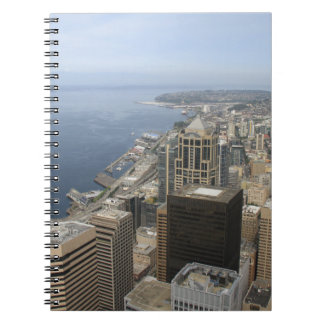 Arial View of Seattle Spiral Notebook