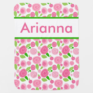 Arianna's Personalized Rose Blanket