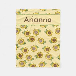 Arianna's Personalized Sunflower Blanket