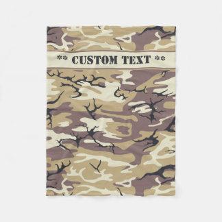 Arid Brown Camo w/ Custom Text Fleece Blanket