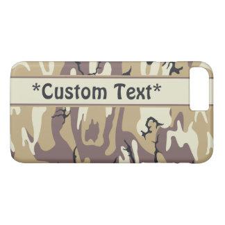 Arid Brown Camo w/ Custom Text iPhone 7 Plus Case