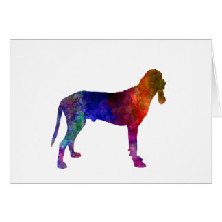 Ariege Hound in watercolor Card