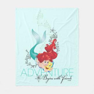 Ariel | Adventure Begins With Friends Fleece Blanket