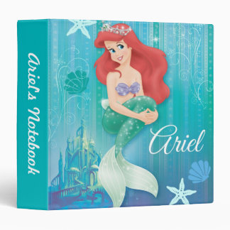 Ariel and Castle 3 Ring Binder