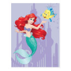 Ariel and Flounder Postcard