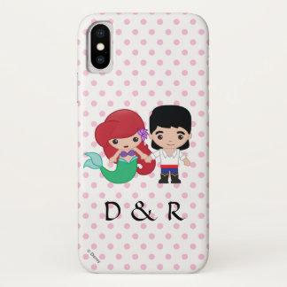 Ariel and Prince Eric Emoji iPhone X Case