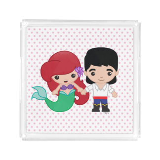Ariel and Prince Eric Emoji Serving Tray