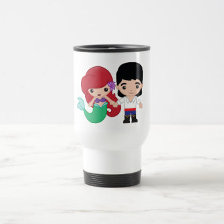 Ariel and Prince Eric Emoji Travel Mug
