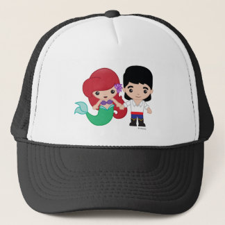 Ariel and Prince Eric Emoji Trucker Hat