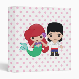 Ariel and Prince Eric Emoji Vinyl Binder