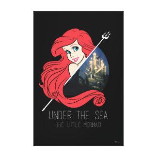 Ariel Atlantis Graphic - Under The Sea Canvas Print