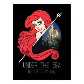 Ariel Atlantis Graphic - Under The Sea Postcard