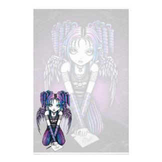 """""""Ariel"""" Cute Emo Angel Art Stationery"""