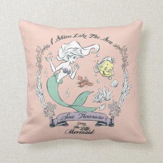 Ariel | I Shine Like the Sea Throw Pillow