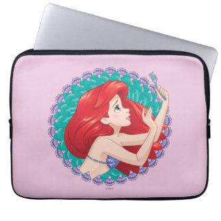 Ariel in Seashell Frame Laptop Sleeve