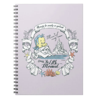 Ariel | Ready to Make a Splash Spiral Notebook