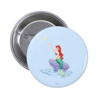Ariel Sitting on Rock 2 Inch Round Button