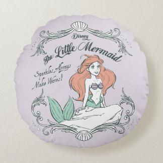 Ariel | Sparkles Always Make Waves Round Pillow