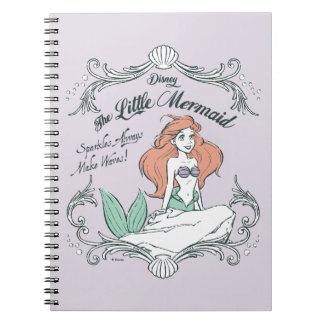 Ariel | Sparkles Always Make Waves Spiral Notebook