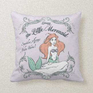 Ariel | Sparkles Always Make Waves Throw Pillow