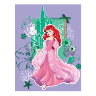 Ariel - Spirited Princess Postcard