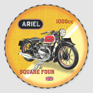 Ariel Square Four vintage motorcycle Classic Round Sticker