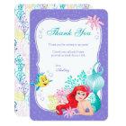 Ariel   Under the Sea Adventure Thank You Card