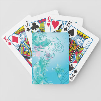 Ariel | Watercolor Outline Bicycle Playing Cards