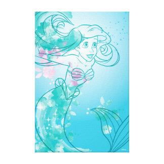 Ariel | Watercolor Outline Canvas Print