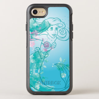 Ariel | Watercolor Outline OtterBox Symmetry iPhone 8/7 Case