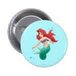 Ariel with Bubbles Button